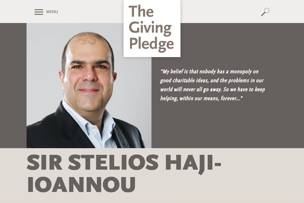 Stelios Joins the Giving Pledge